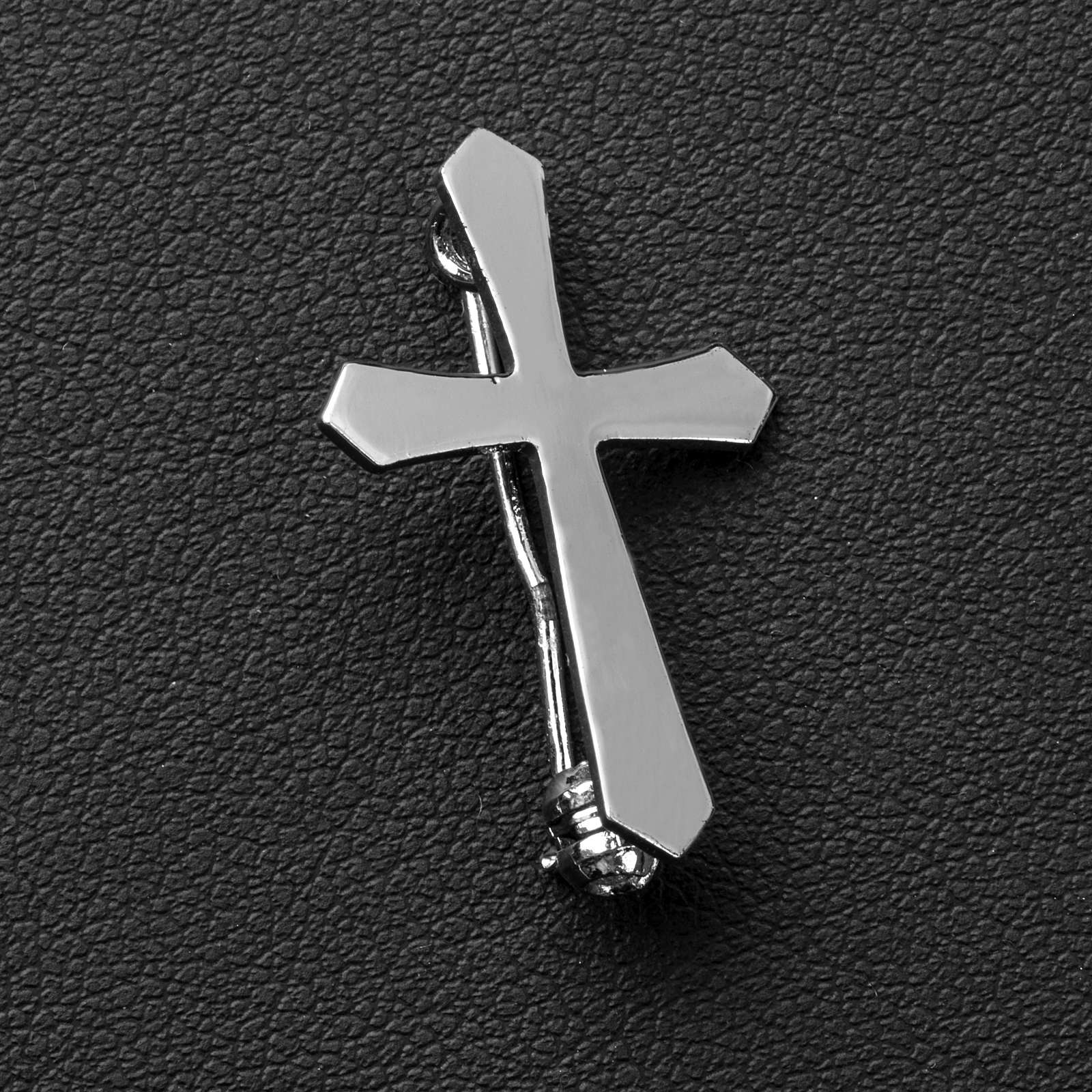 Clergyman pointed cross pin in 800 silver 4
