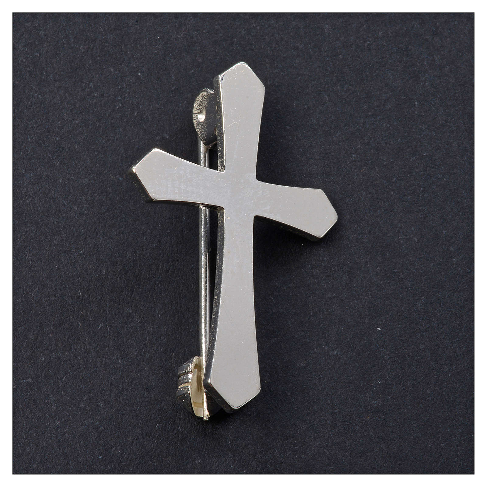 Clergyman pointed cross pin in 925 silver 4