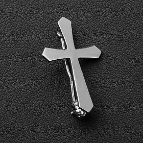 Clergyman pointed cross pin in 800 silver s3