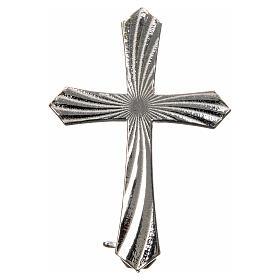 Knurled cross brooch in 925 silver s4