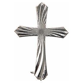Knurled cross brooch in 925 silver s1