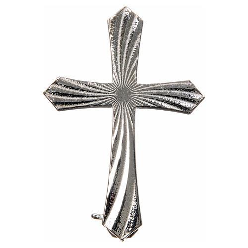 Knurled cross brooch in 925 silver 1