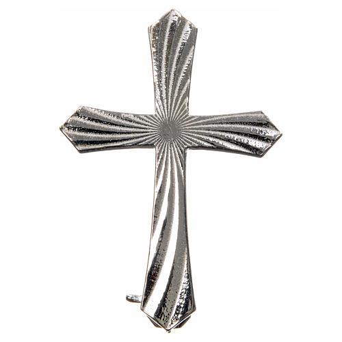 Broche croix crénelée argent 925 4