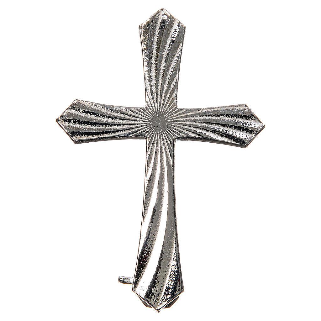 Spilla croce zigrinata arg. 925 4