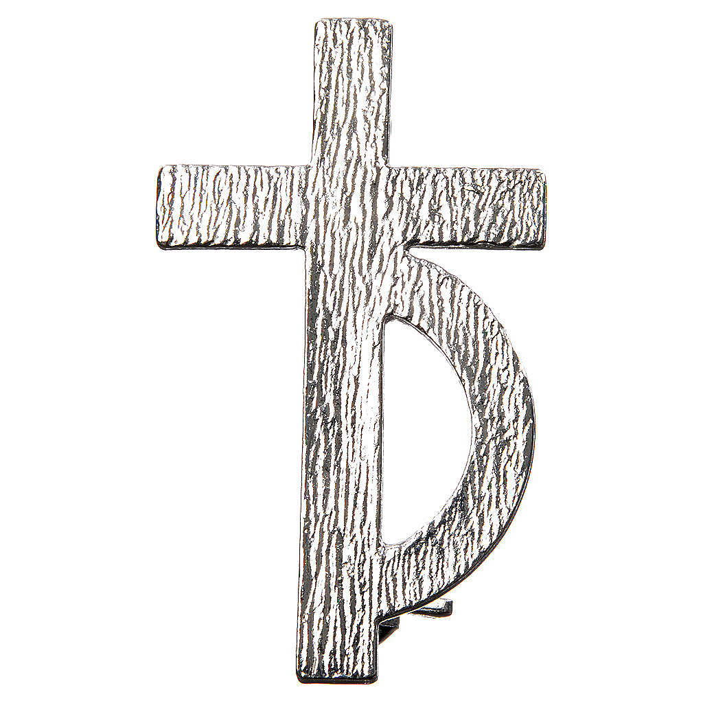 Clergyman cross pin for deacons in 800 silver 4