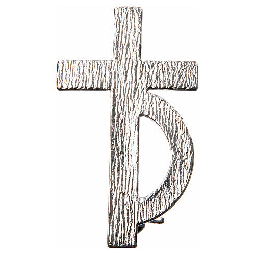 Clergyman cross pin for deacons in 925 silver 1
