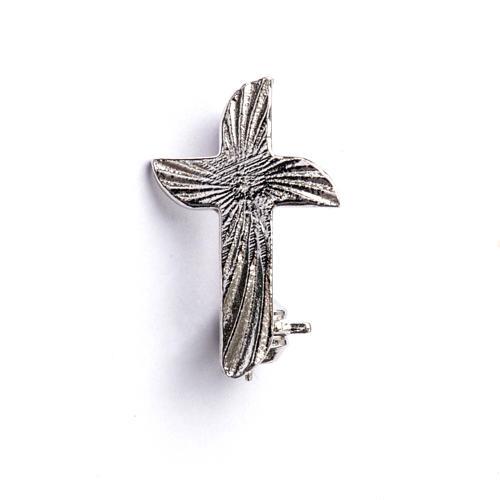 Croix clergyman crénelée argent 925 1