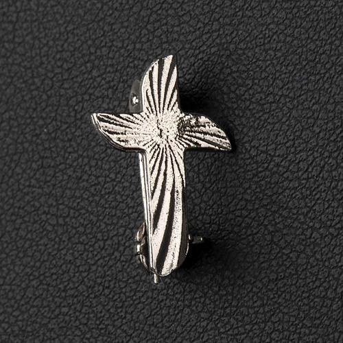 Croix clergyman crénelée argent 925 2