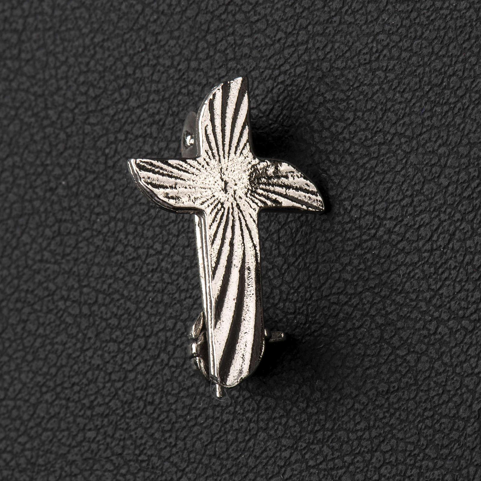 Croce clergyman zigrinata arg.925 4