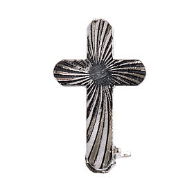 Croix clergyman arrondie argent s1