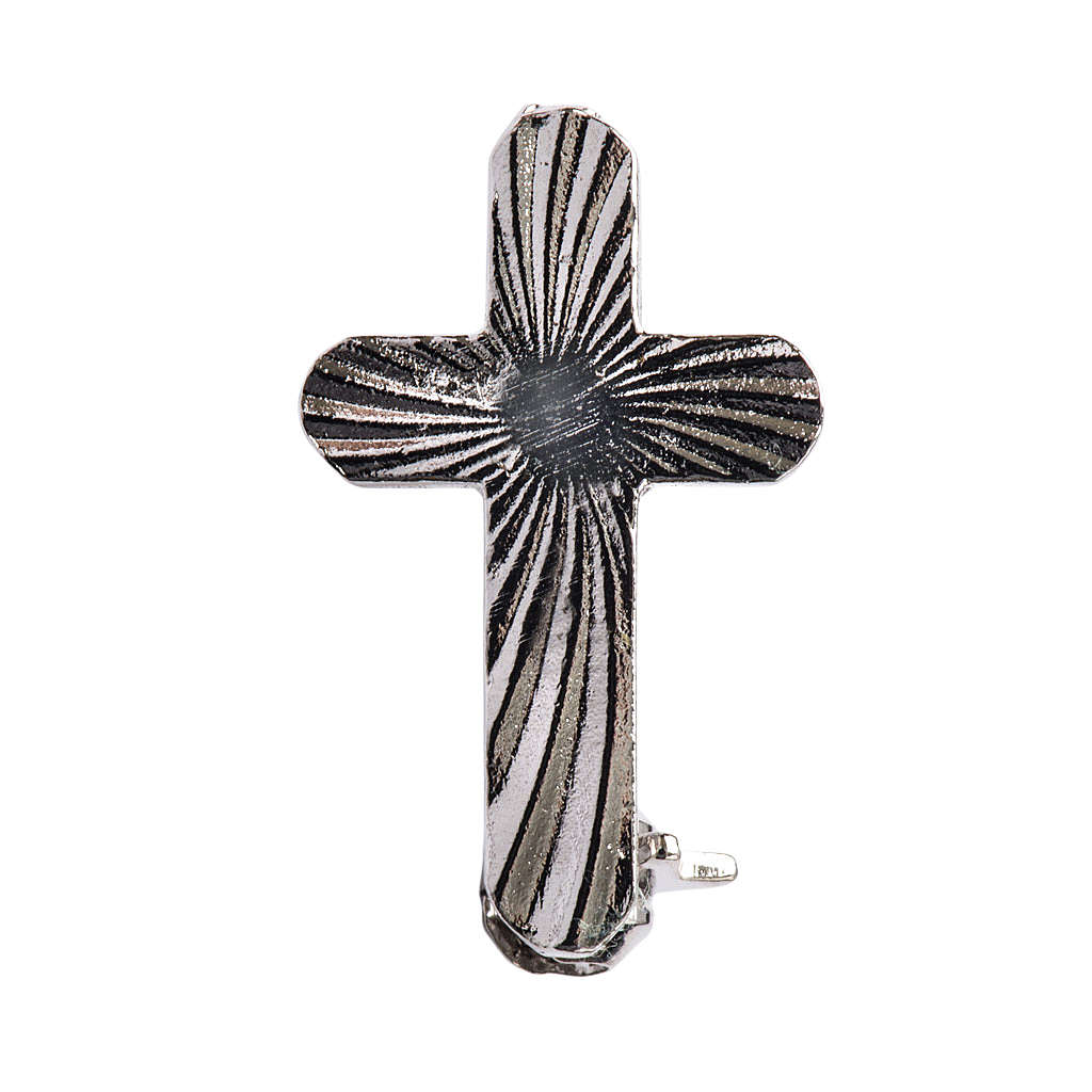 Clergy cross brooch, rounded in 925 silver 4