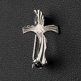 Croix clergyman stylisée crénelée arg 925 s2