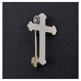 Clergy pointed cross pin in 925 silver s2