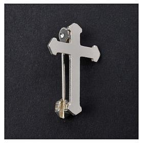 Broszka krzyż srebro 925 s5