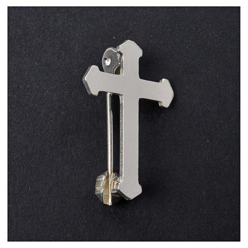 Broszka krzyż srebro 925 5