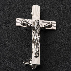 Broche Clergyman Crucifijo plata de ley s2