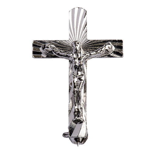 Broche Clergyman Crucifijo plata de ley 1