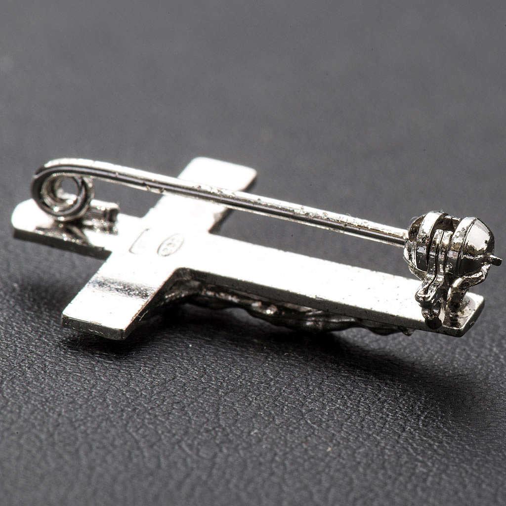 Spilla clergyman crocefisso arg. 925 4