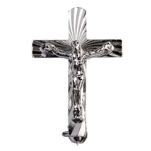 Clergy crucifix pin in 925 silver 1