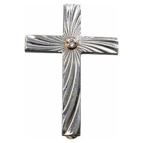 Cruz Clergyman plata de ley zircón s4