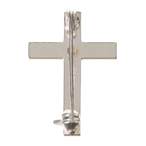 Croix clergyman zircon argent 800 3