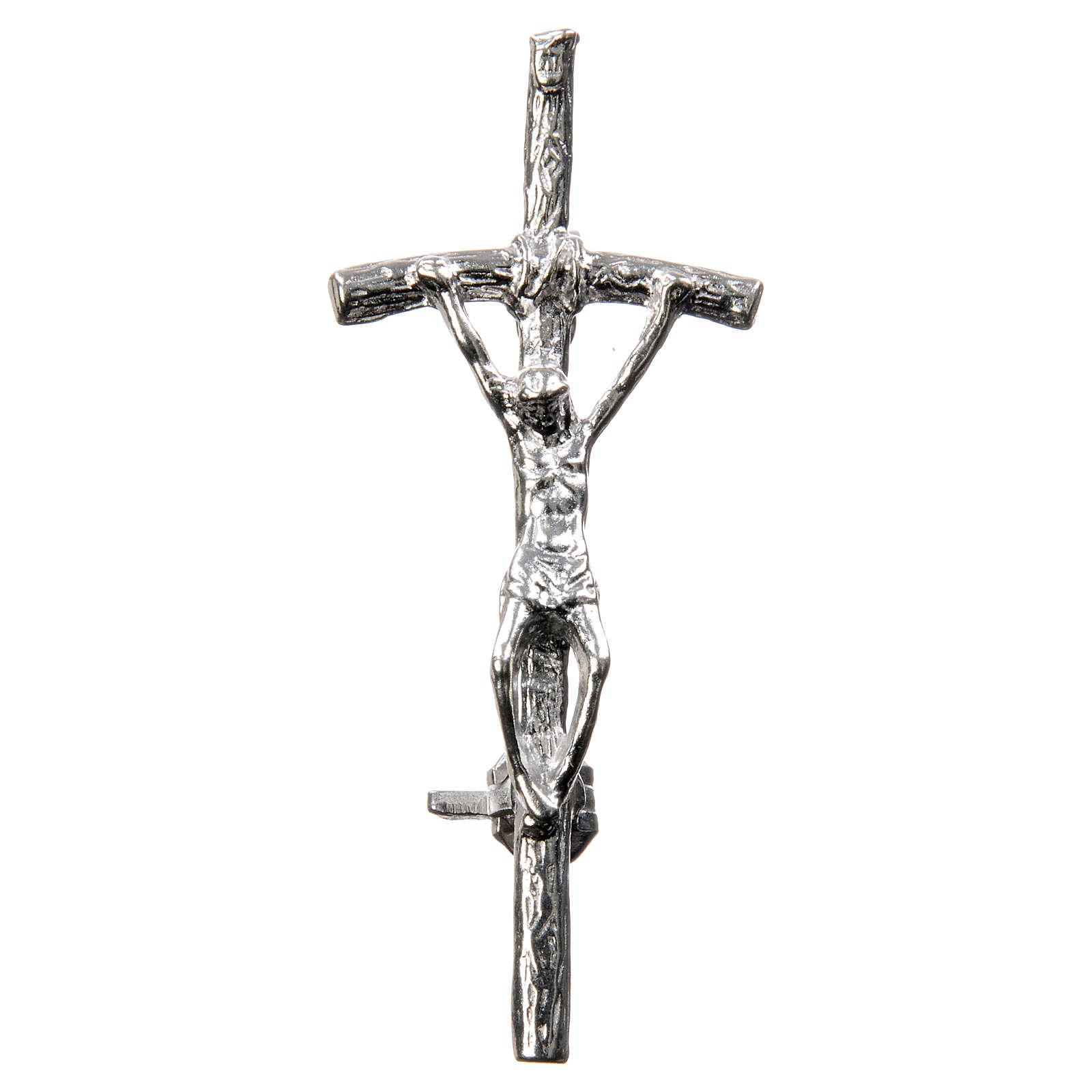 Croix clergyman crénelée zircon et argent 925 4