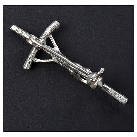Croix clergyman crénelée zircon et argent 925 s6
