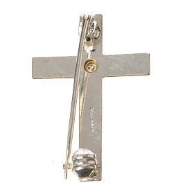 Croix clergyman crénelée zircon et argent 925 s9