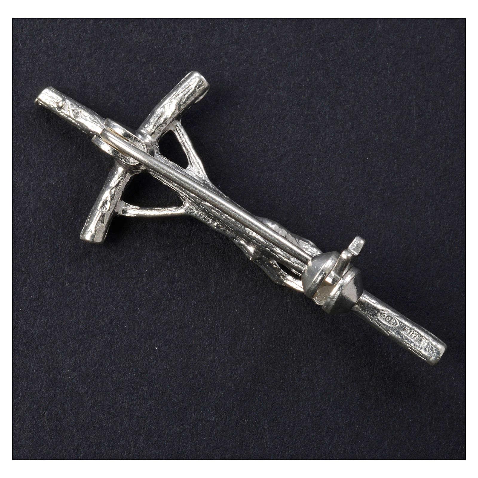 Croce clergyman arg. 925 zircone 4