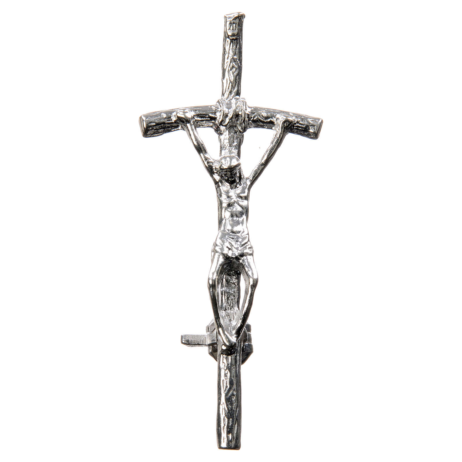 Clergy cross lapel pin in 925 silver with zircon 4