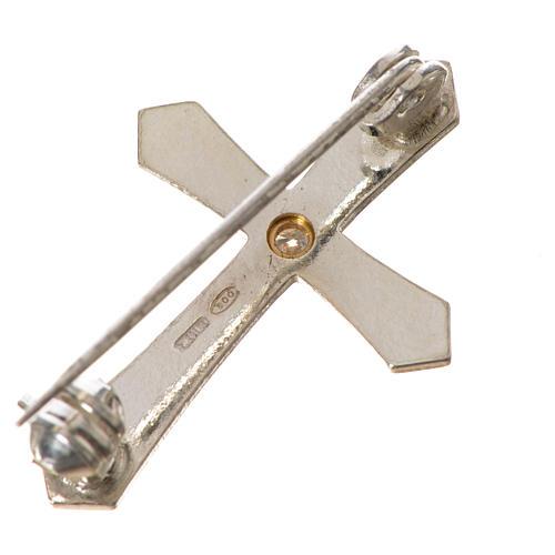 Clergyman croce a punta arg. 925 zircone 6