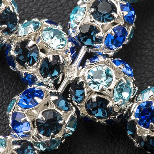 Cruz de strass multicolor azul 8mm 3