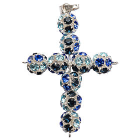 Croce Strass multicolor blu 8 mm s1