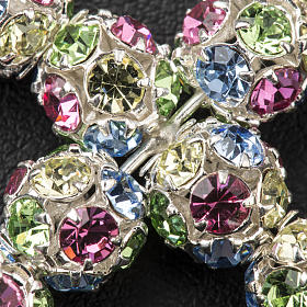 Croce strassball multicolor diam 6 mm s3