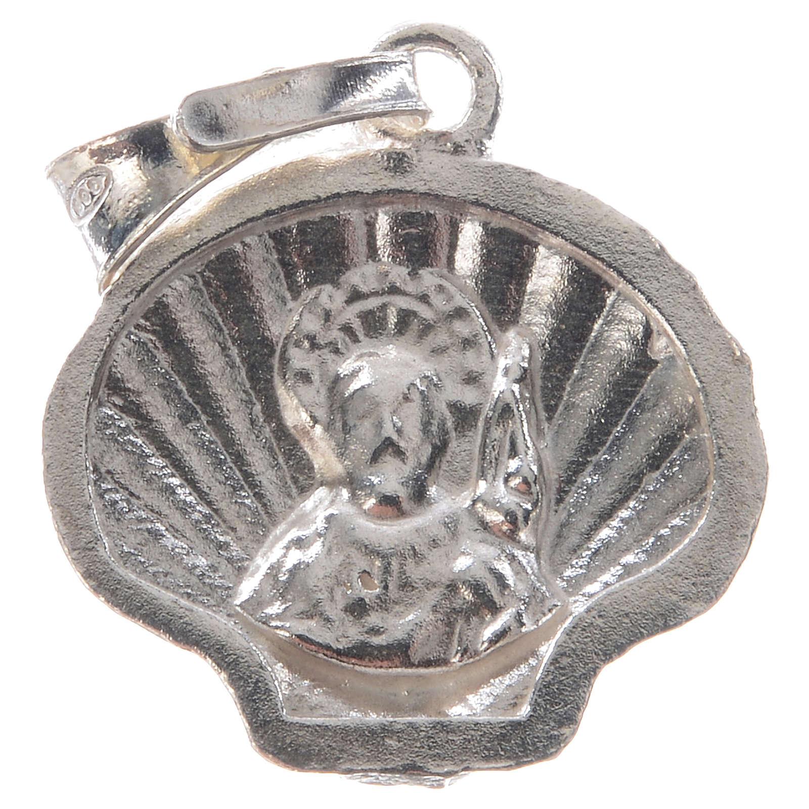 Colgante medalla plata 925 concha Santiago de Compostela 4