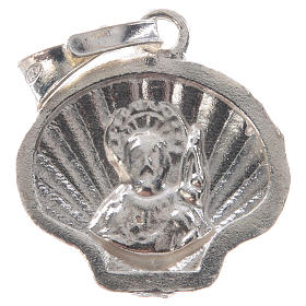 Pingente medalha prata 925 concha Santiago de Compostela s6