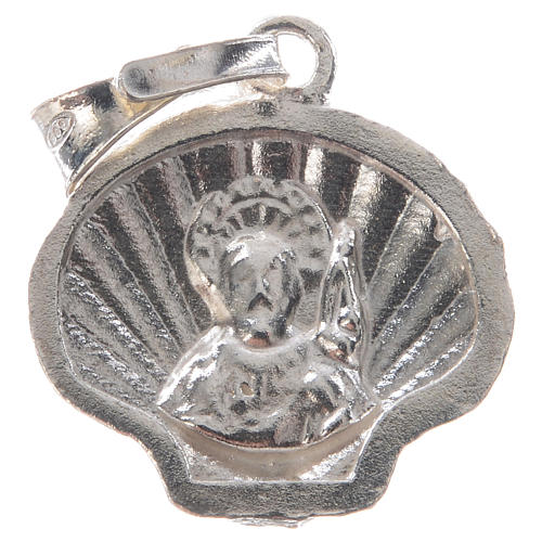 Pingente medalha prata 925 concha Santiago de Compostela 6