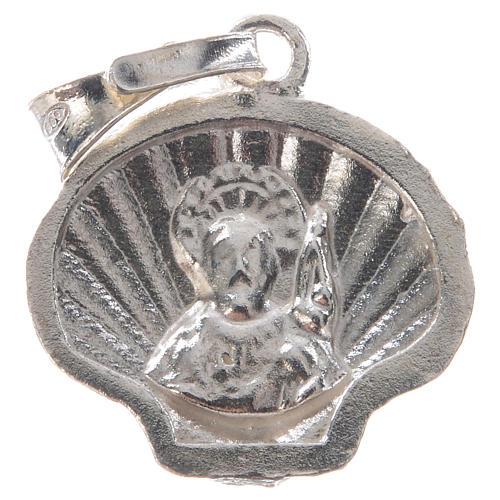Pendant charm in 925 silver, Santiago de Compostela scallop shell 6