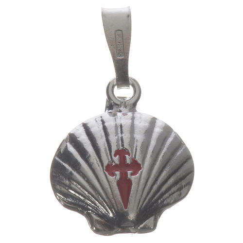 Pendant charm in 925 silver, Santiago de Compostela scallop shell 1