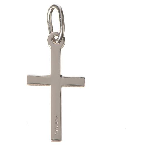 Kreuz aus klarem Silber 2 cm 4