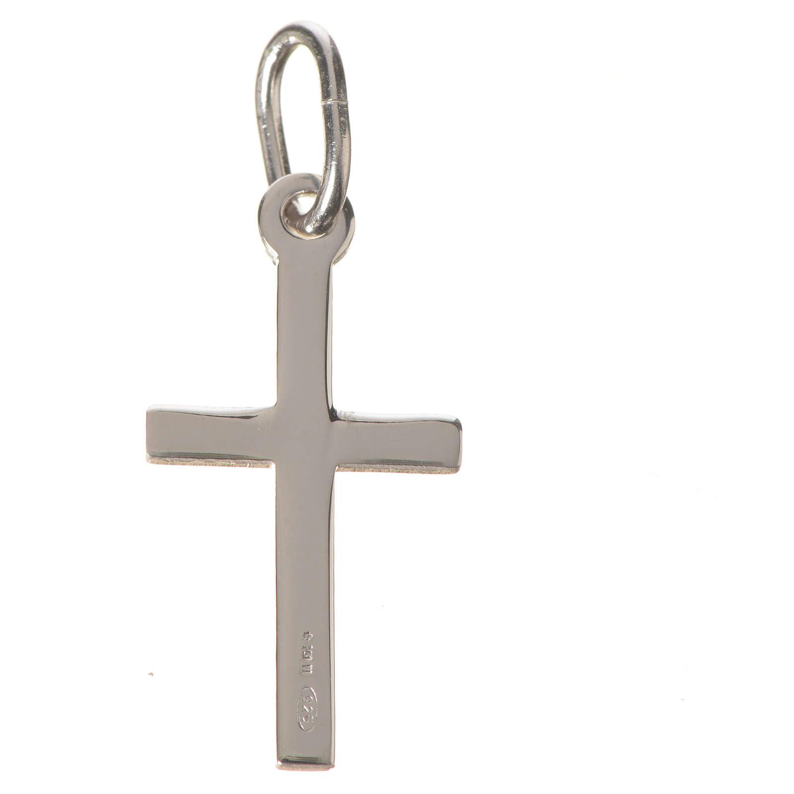 Croix argent lucide 2 cm 4