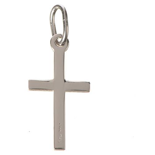 Croix argent lucide 2 cm 2