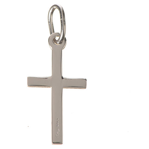 Croce argento lucido cm 2 2
