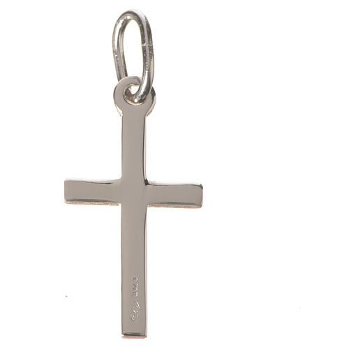 Cross pendant in polished sterling silver 2cm 4