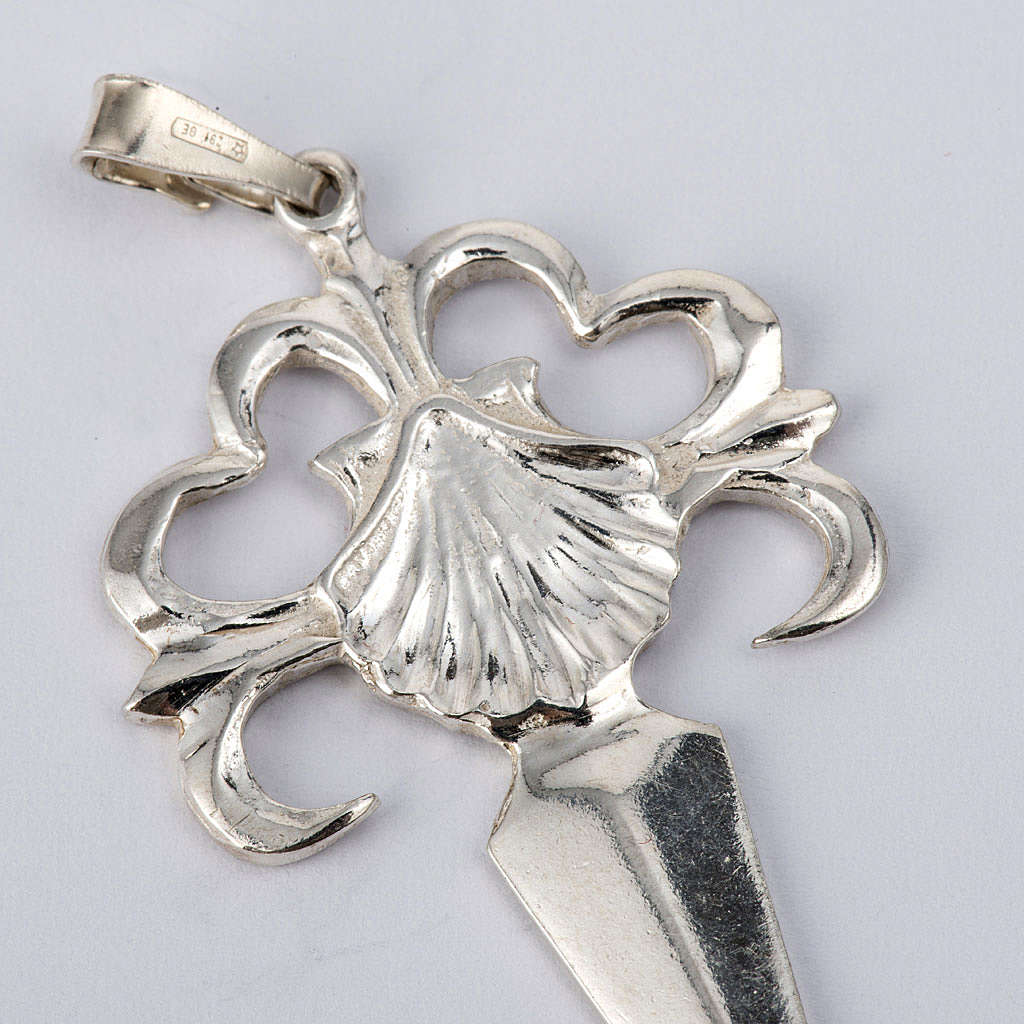 Santiago de Compostela Cross in shiny silver 925 4