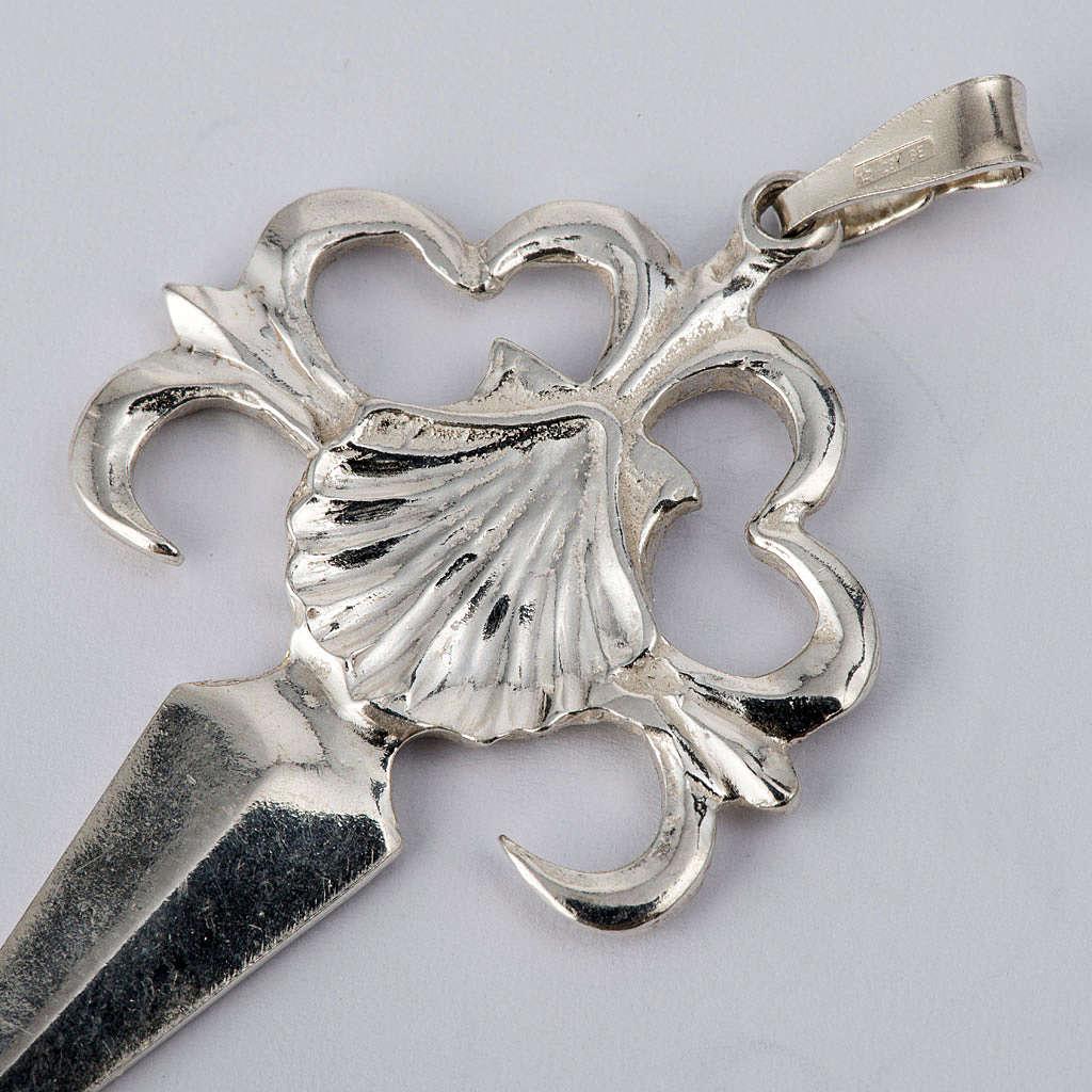 Krzyż Świętego Jakuba z Composteli srebro 925 polerowane 4
