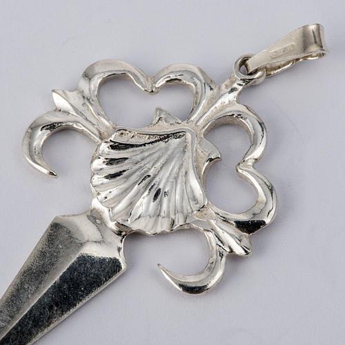 Krzyż Świętego Jakuba z Composteli srebro 925 polerowane 2