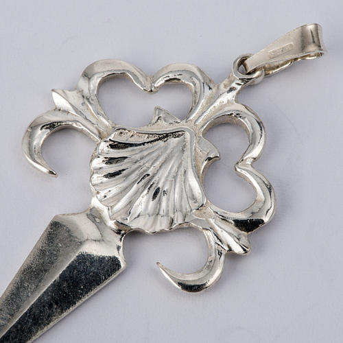 Santiago de Compostela Cross in shiny silver 925 2