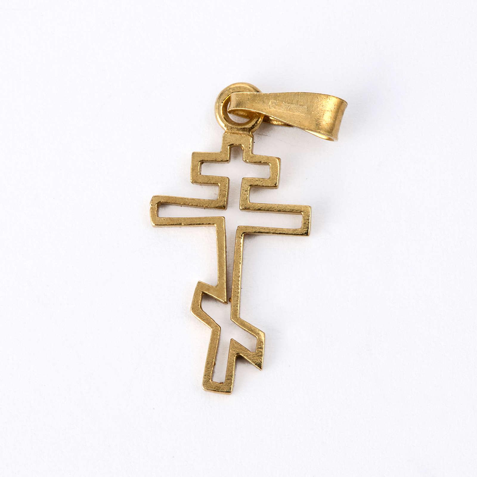 Croce ortodossa Arg. 925 dorata 4