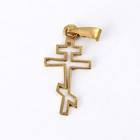 Pendenti, croci, spille, catenelle: Croce ortodossa Arg. 925 dorata